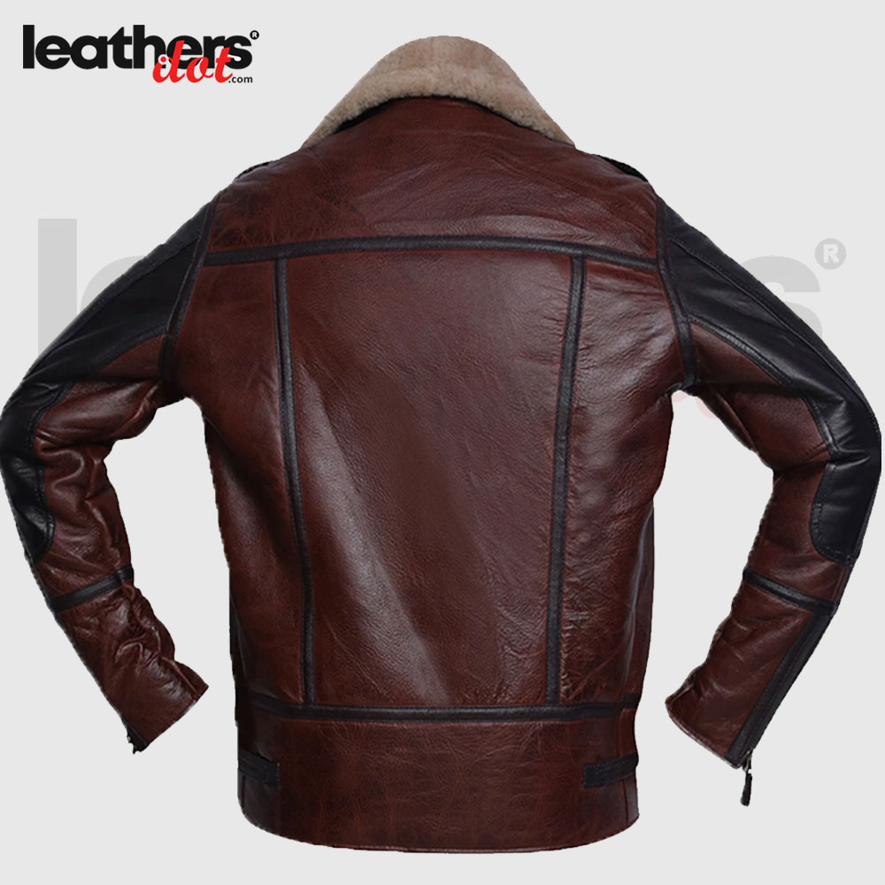 Aviator B3 Brown Leather Shearling Jacket for Men