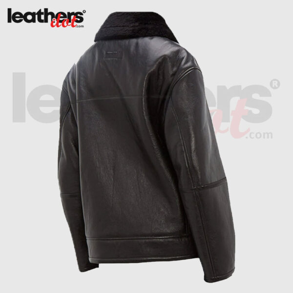 Black B3 Genuine Sheepskin Leather Jacket For Men
