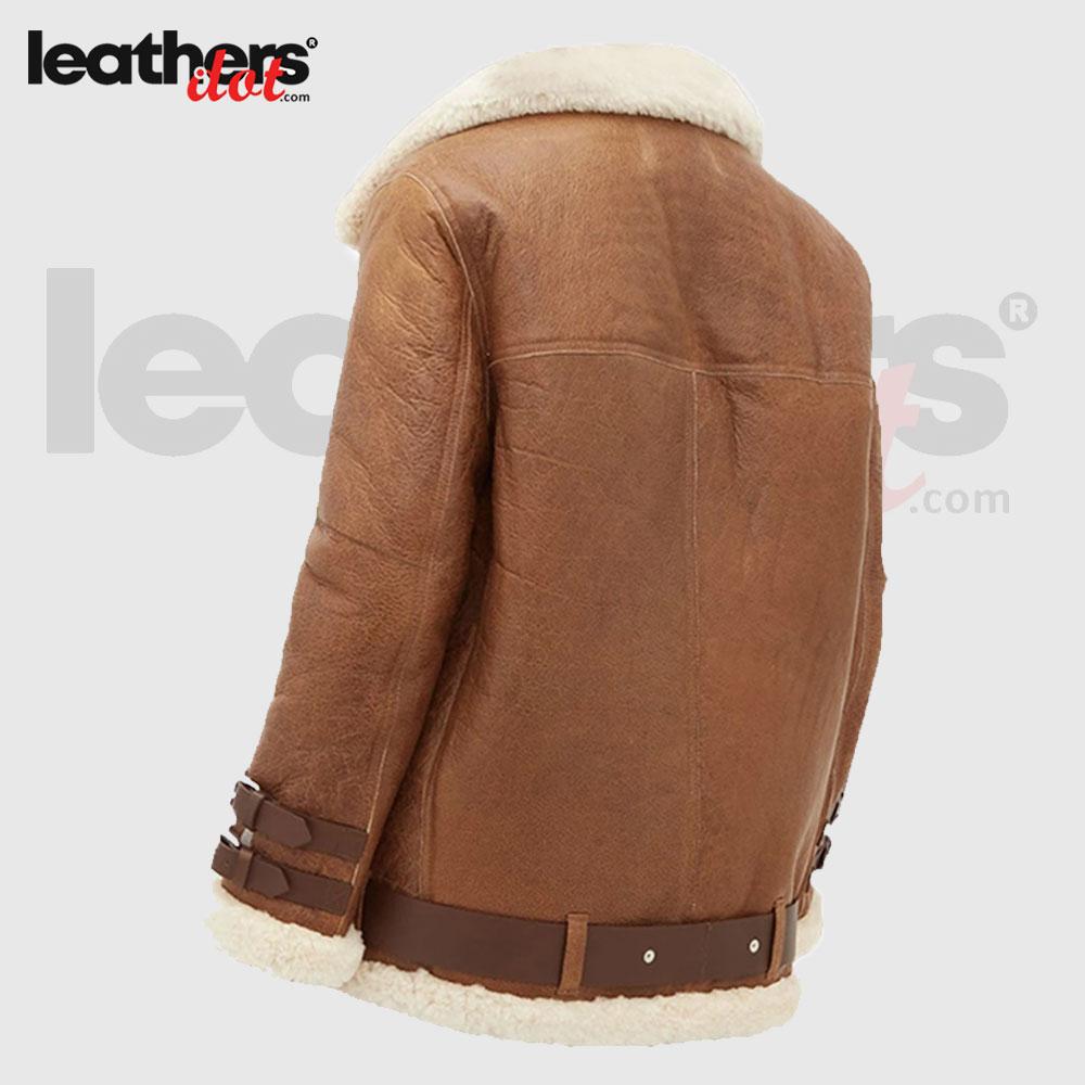 B3 Winter Light Brown Women Faux Shearling Jacket