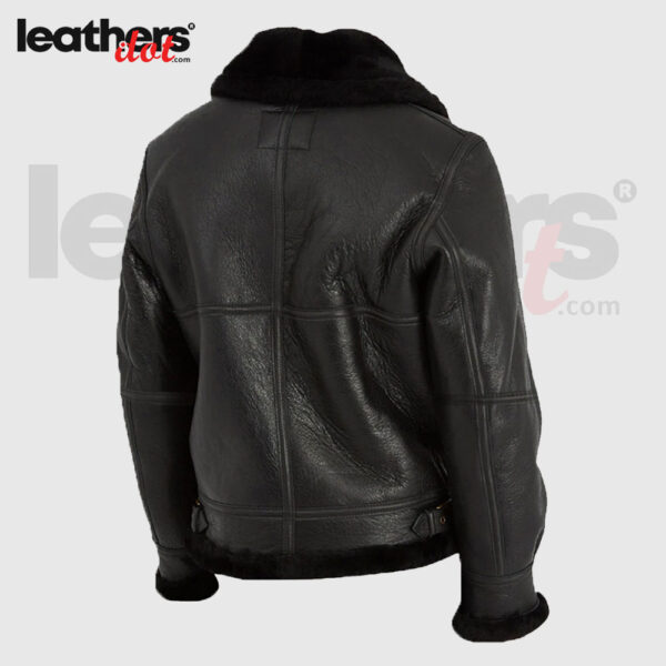 B3 Women Sheepskin Bomber Black Pure Leather Jacket