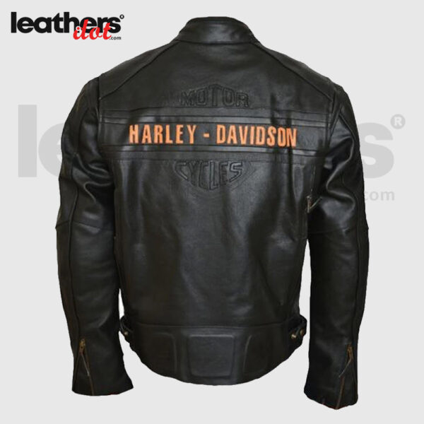 WWE Men Bill Goldberg Harley Davidson Motorcycle Leather Jacket