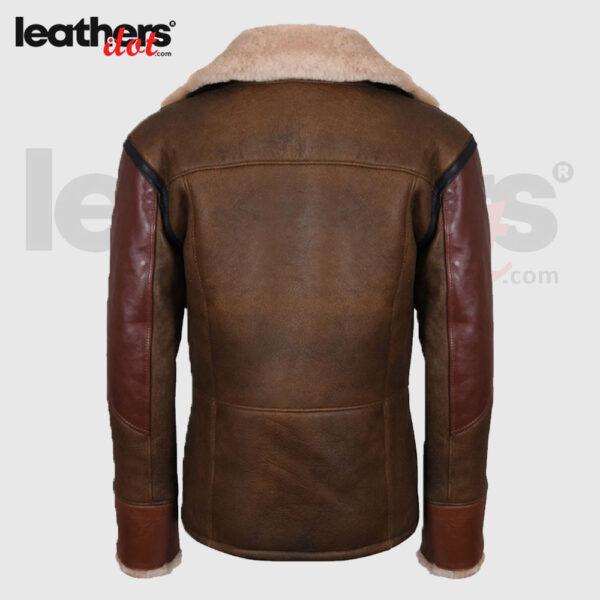 Customized Fit Premium Men Sheepskin Aviator Leather Jacket