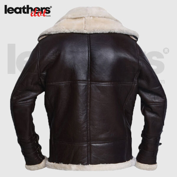 Men Winter Jet Black Shearling Jacket