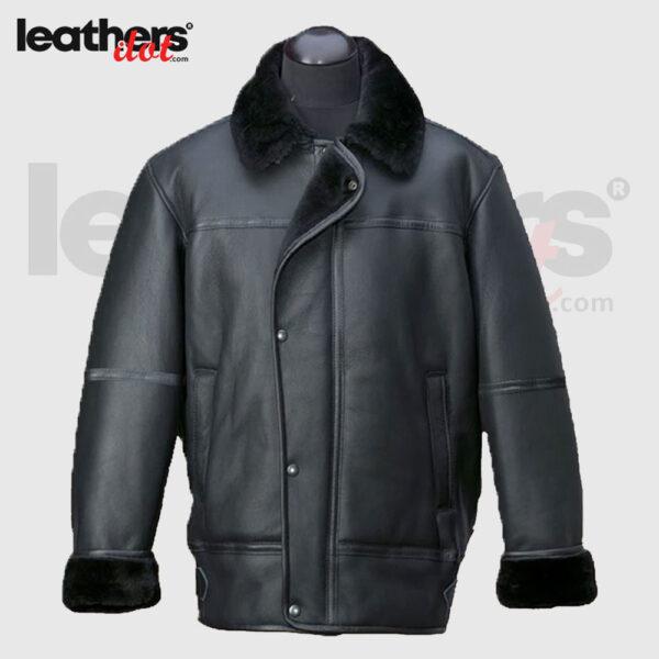 Raf Aircraft Flying Shearling Sheepskin Fur Collar Jacket