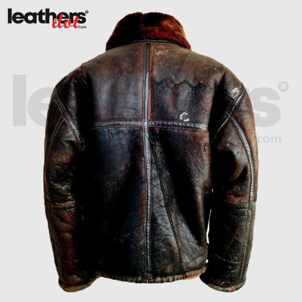 Vintage B3 Flying Shearling Leather Jacket for Men