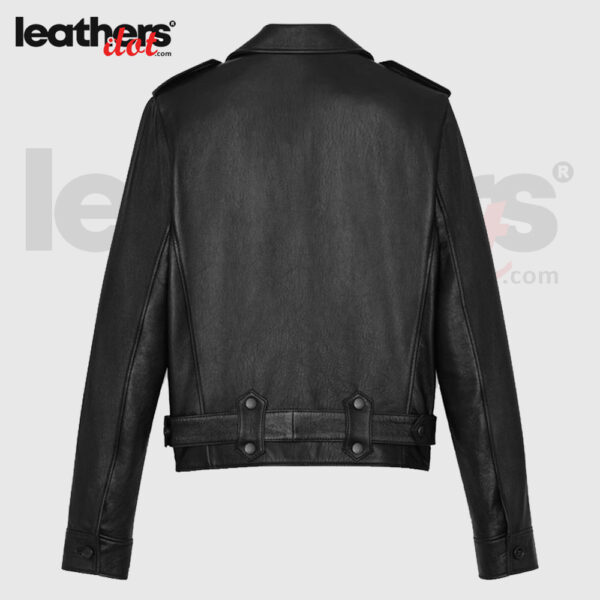 Durable Black Aviator Bomber Leather Jacket for Women