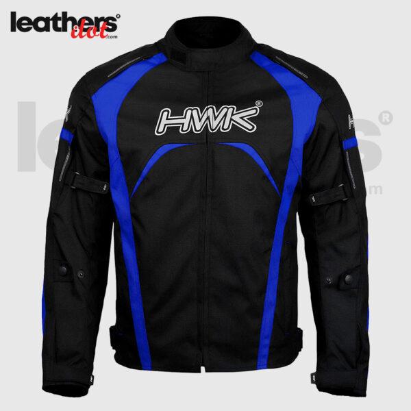 100% Waterproof Blue Men 600d Cordura Textile Riding Motorcycle Jacket