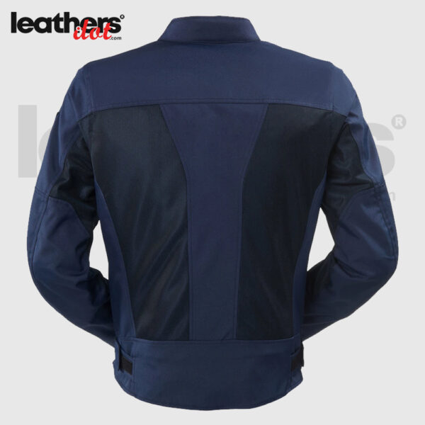 600D Fabric Polyester Motorcycle Textile Blue Jacket