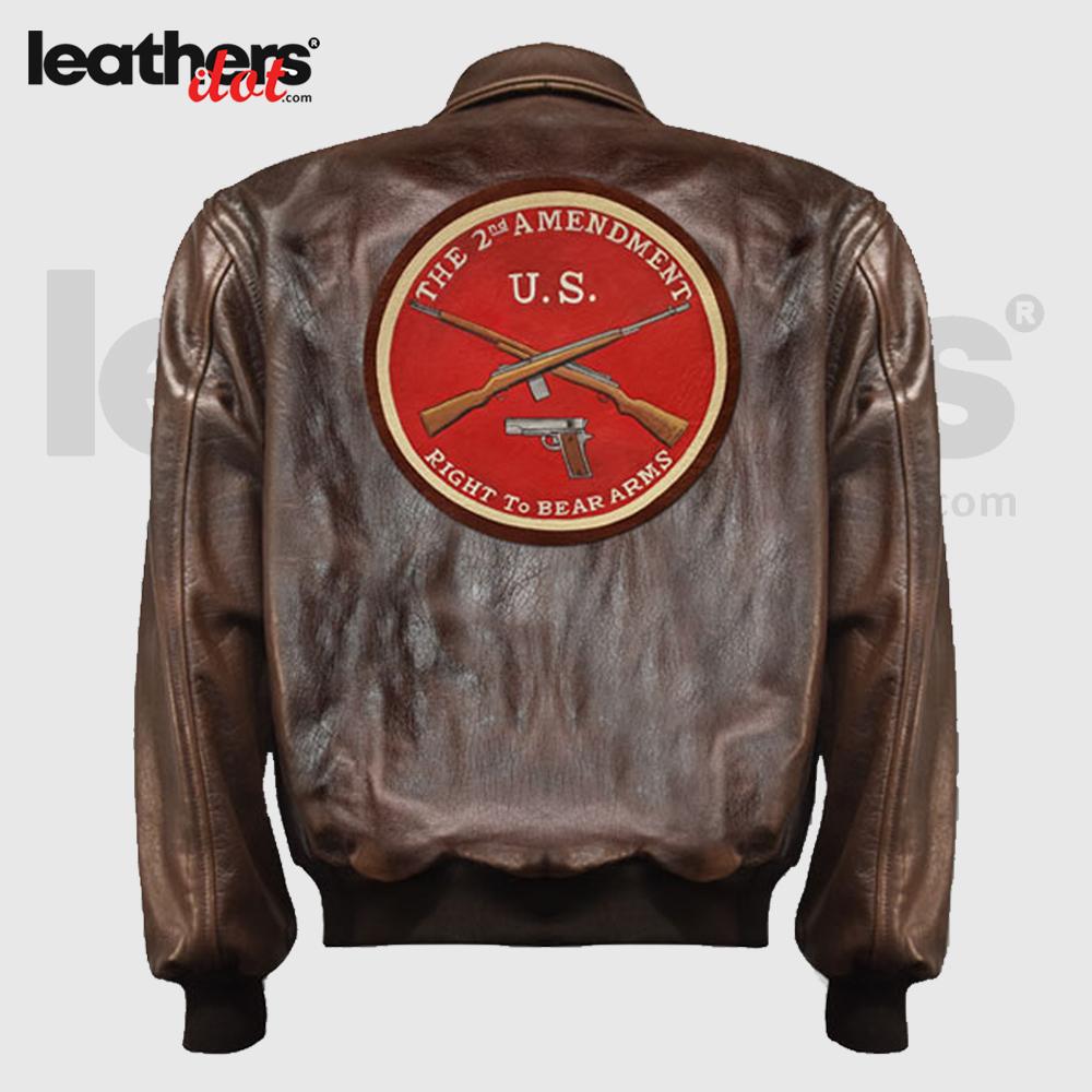 Antique Brown Men A2 Flying Leather Flight JacketAntique Brown Men A2 Flying Leather Flight JacketAntique Brown Men A2 Flying Leather Flight Jacket