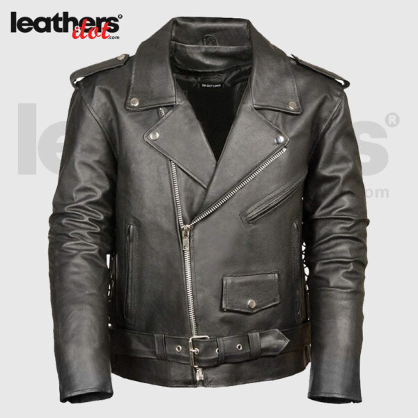 Antique Style Men's Motorcycle Leather Jacket
