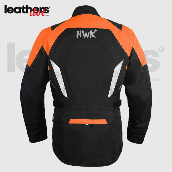 Black/Orange Adv Dual Sport Racing CE Armored Waterproof Jacket