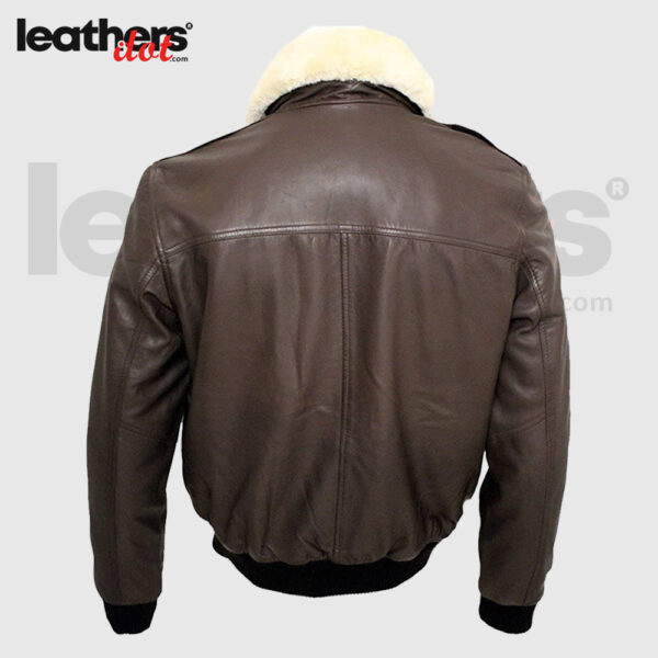 Brown Flying Men A2 Sheep Nappa Leather Bomber Jacket