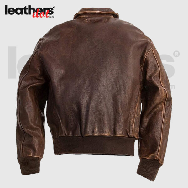 Distressed Brown Mens A2 Bomber Flight Flying JacketDistressed Brown Mens A2 Bomber Flight Flying JacketDistressed Brown Mens A2 Bomber Flight Flying Jacket