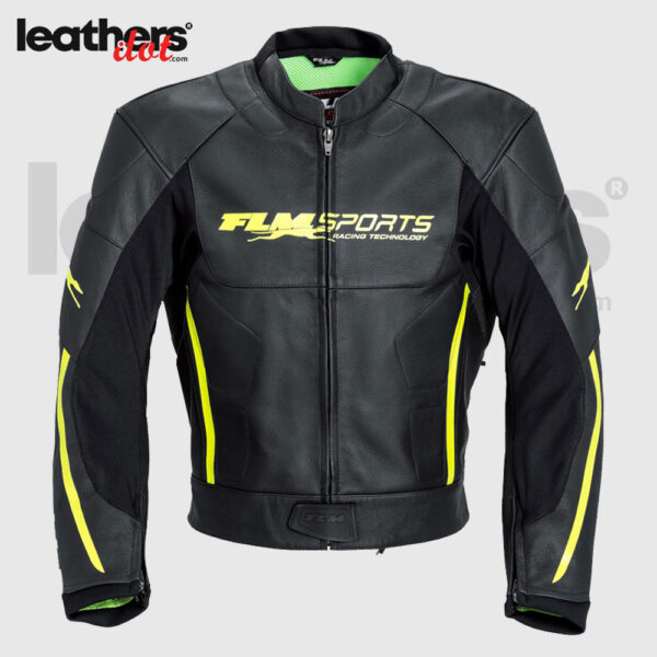FLM Men Motorcycle Leather Jacket Fashion Leather Jacket