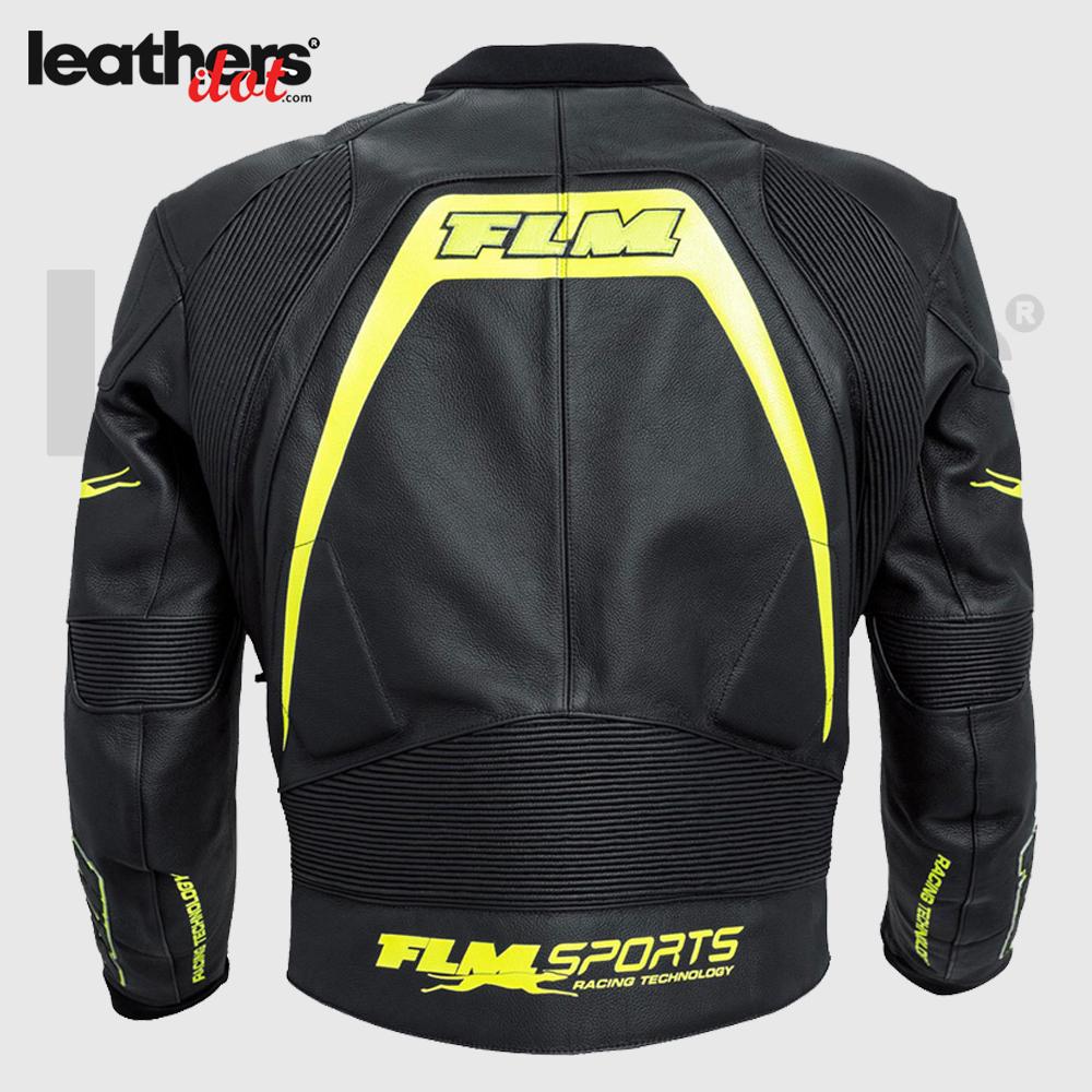 FLM Men Motorcycle Leather Jacket Fashion Leather Jacket
