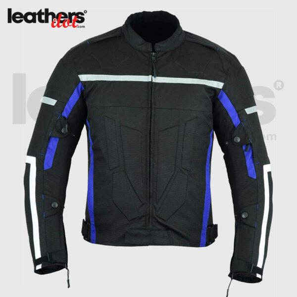 Grey Cordura Textile Motorbike Water Resistant Jacket for Men