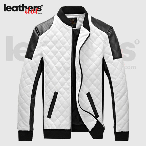 Men Classic Biker Motorcycle Leather Jacket