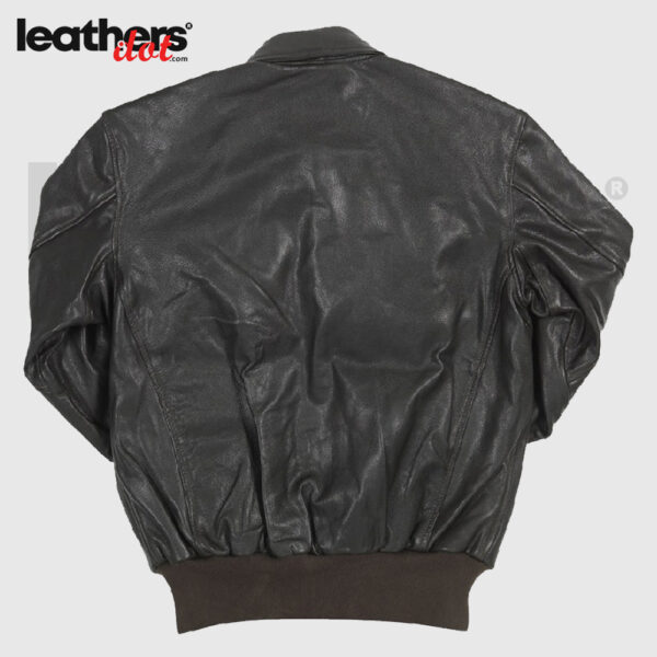Men WWII A2 Flying Leather Bomber Dark Brown Jacket