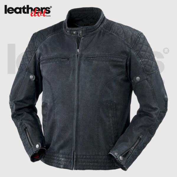 Men's Buse Brighton 600d Fabric Dark Blue Motorcycle Textile Jacket