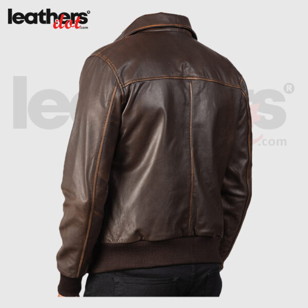 New Men Distressed Brown Leather Bomber Real Jacket