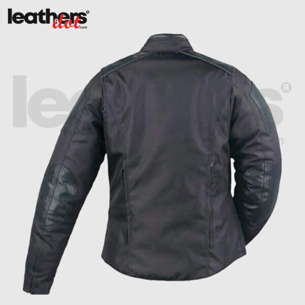 New Mens Textile Motorcycle Racing Jacket with Leather Trim