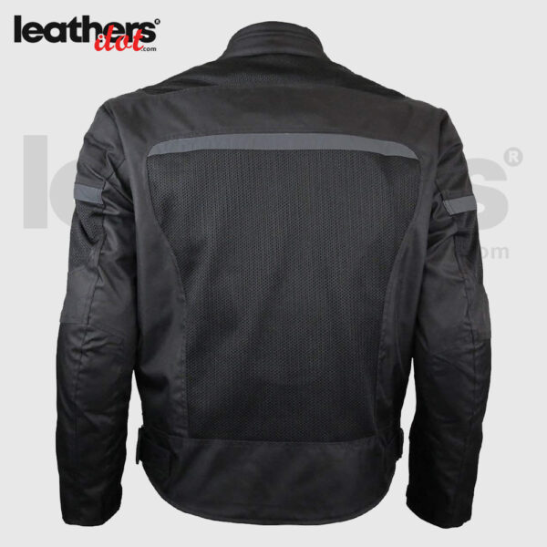 Shop Mens Perforated Reflective Textile-Mesh Motorcycle Jacket for Men