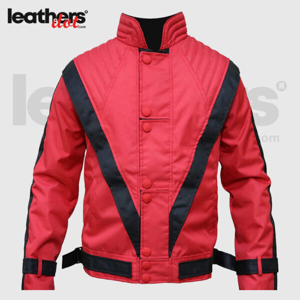 Thriller Music Michael Jackson Motorcycle Cordura Costume Red Jacket