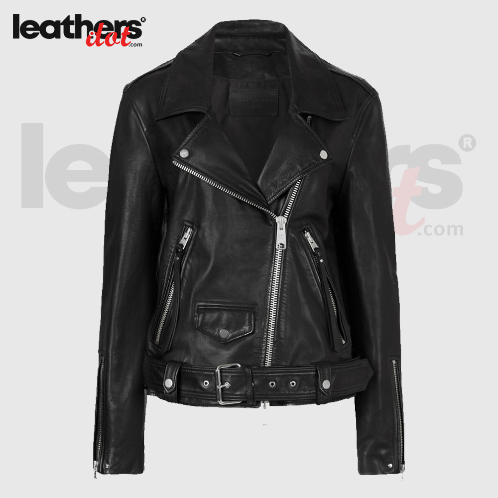 Best Seller Womens Leather Biker Jacket