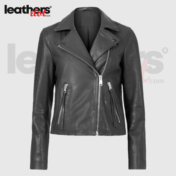 Hot Look Womens Leather Biker Jacket