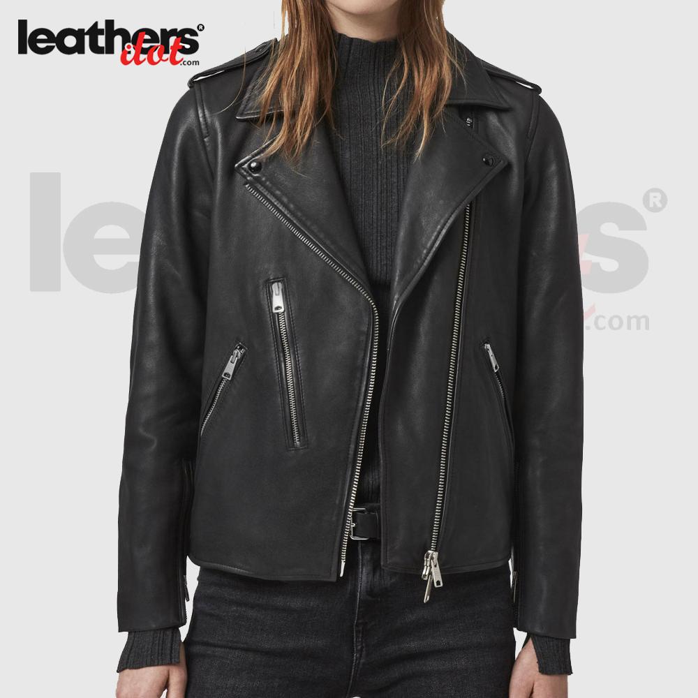 Hot Style Motorbike Leather Jacket for Ladies
