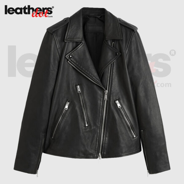 Hot Style Motorbike Leather Jacket for Ladies