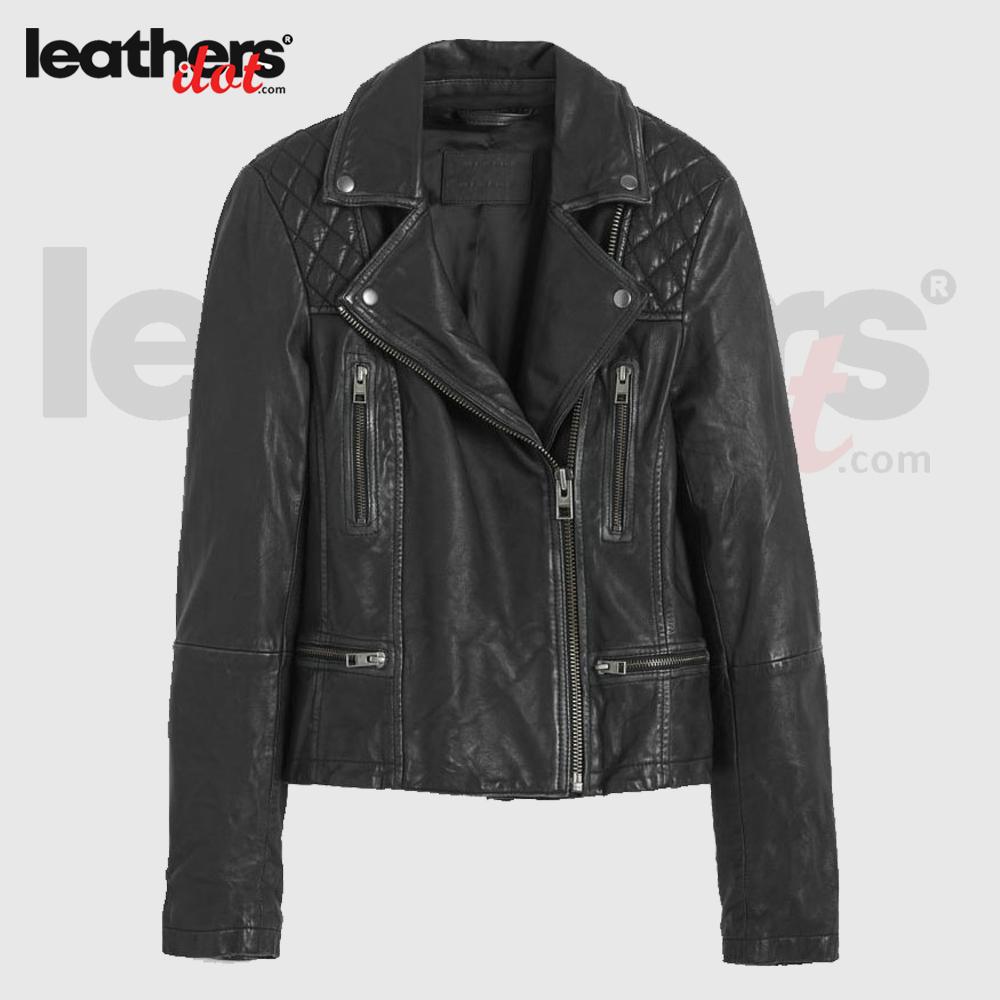 New Style Ladies Leather Biker Jacket