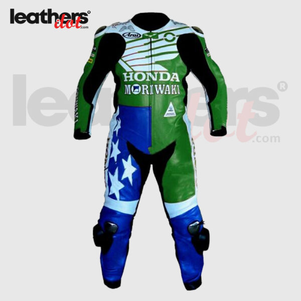 American-Honda-Moriwaki-Motorcycle-Racing-Leather-Suit