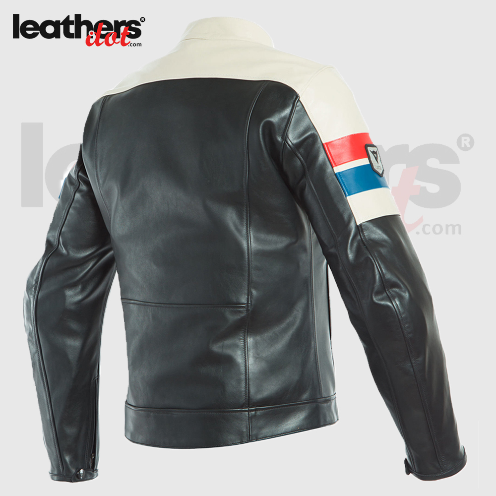 Dainese 8-Track Men Motorcycle Cowhide Leather Jacket