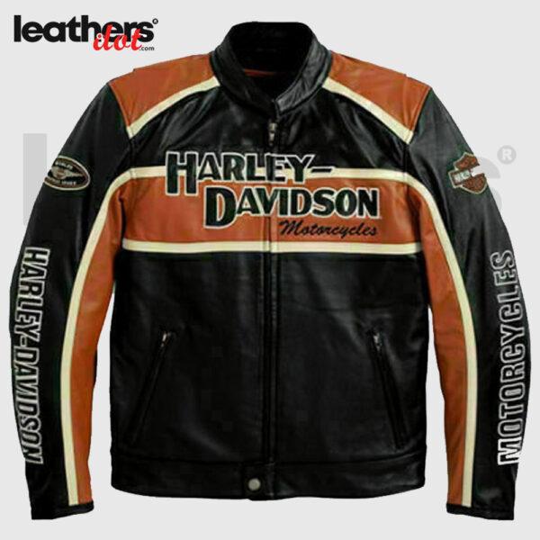 Harley Davidson Classic Cruiser 98118-08VM Motorcycle Leather Jacket
