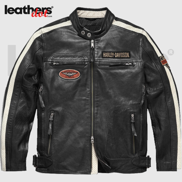 Harley Davidson Command Mens Motorcycle Leather Jacket