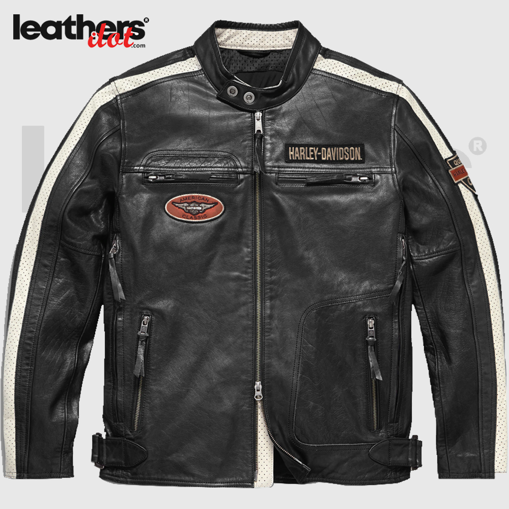 Harley Davidson Command Mens Motorcycle Leather Jacket