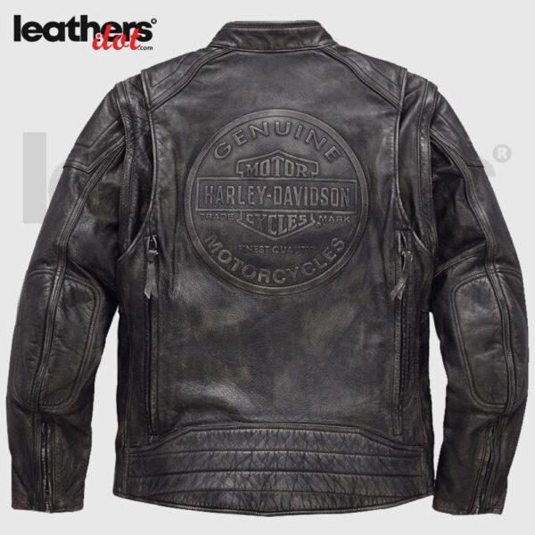 Harley Davidson Dauntless Convertible Motorcycle Leather Jacket