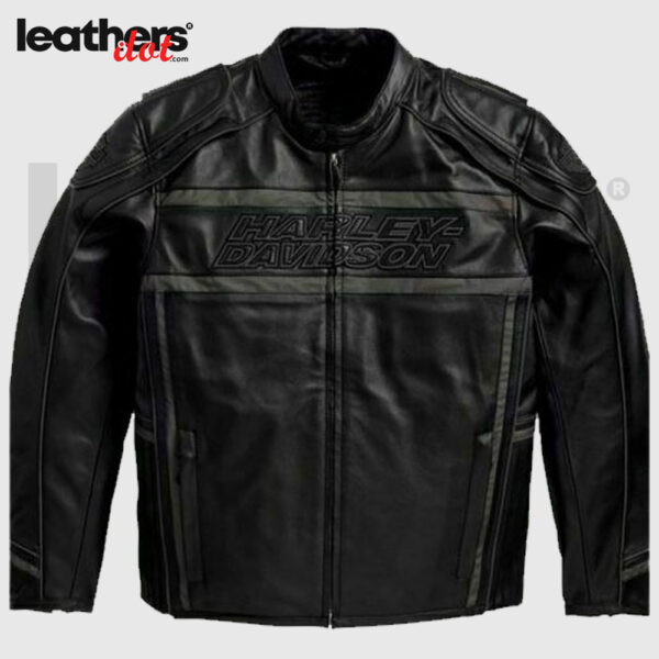 Harley Davidson Men's Luminator 360 Black Motorcycle Leather Jacket