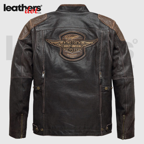 Harley-Davidson Men's Triple Vent System Trostel Leather Jacket 98053-19VM