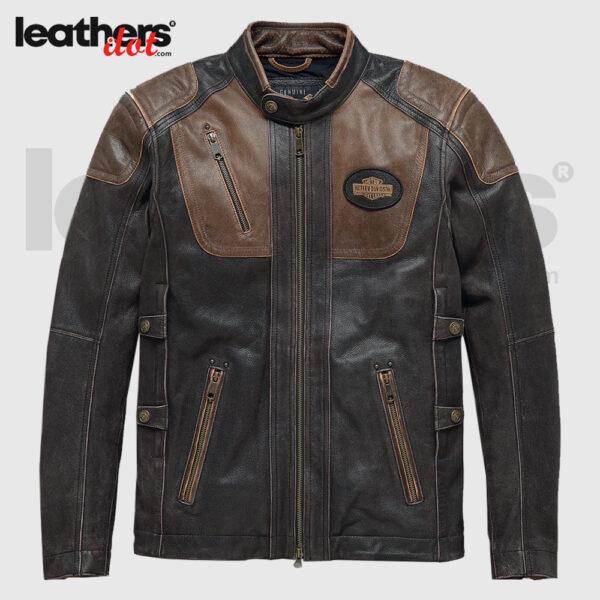 Harley-Davidson Men's Triple Vent System Trostel Leather Jacket 98053-19VM