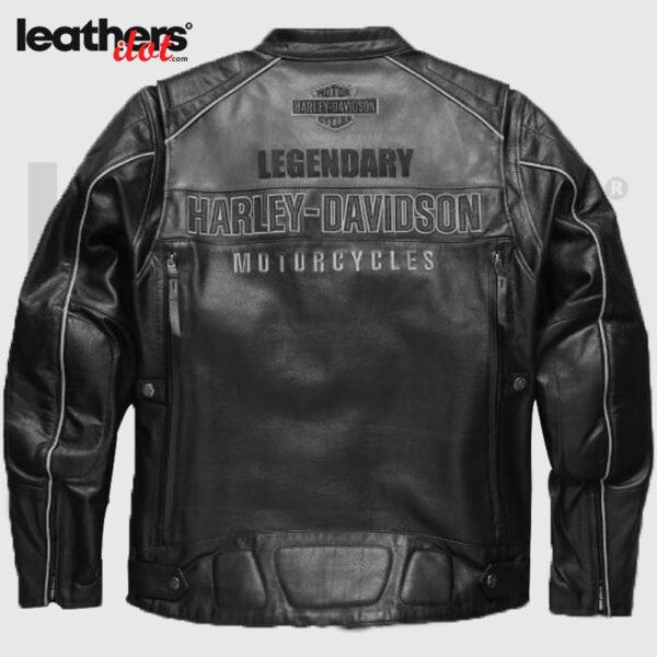 Harley Davidson Motorcycle Jackets Votary Color blocked Leather Jacket