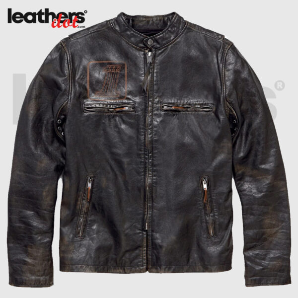 Harley Davidson Motorcycle Speed Distressed Slim Fit Leather Jacket