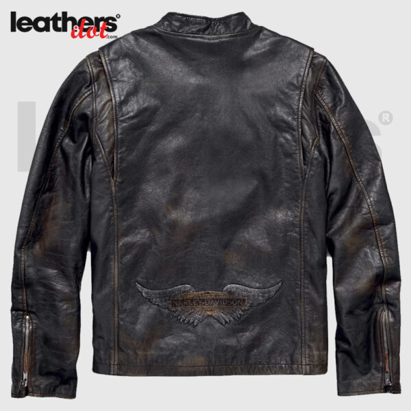 Harley Davidson Motorcycle Speed Distressed Slim Fit Leather Jacket