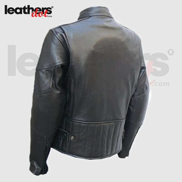 Hight Quality Men Motorcycle Biker Racing Black leather Jacket