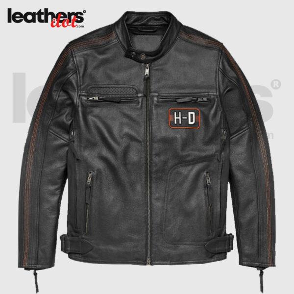 Harley Davidson Men's Regulator Perforated Leather Black Jacket