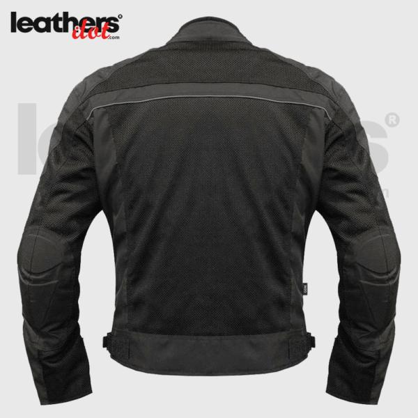Adjustable cuffs Men Mesh Motorcycle Jacket