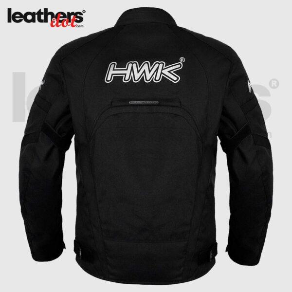 Black Motorcycle Men's HWK Textile Hi-Vis CE Armored Windproof Jacket