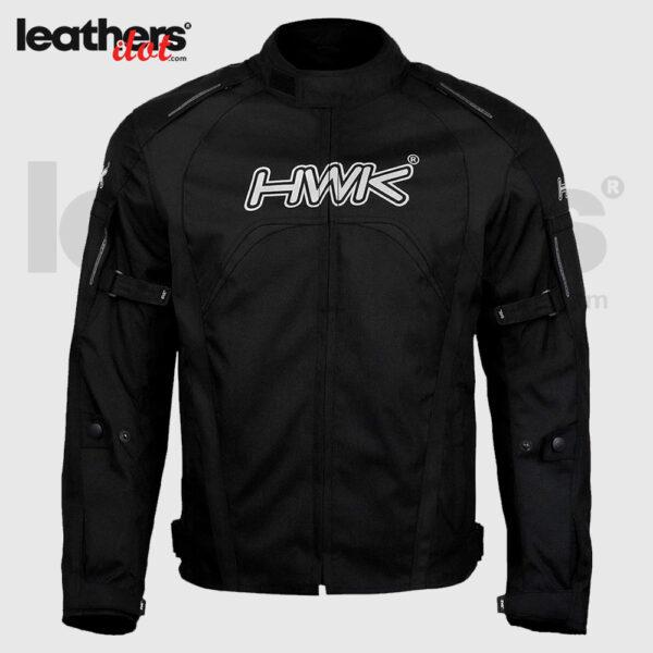 Black Motorcycle Men's HWK Textile Hi-Vis CE Armored Windproof Jacket