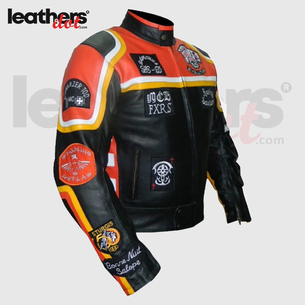 HDDM-Mickey-Rourke-Don-Johnson-Vintage-Motorcycle-Biker-Real-Leather-Jacket-side